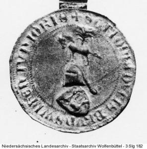 Abb. 2: Siegel Herzog Ottos des Quaden von Braunschweig-Lüneburg  (1362-1394) (Niedersächsisches Staatsarchiv – Staatsarchiv Wolfenbüttel, 3 Slg 182)