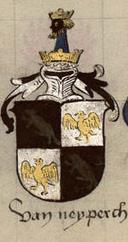 Neidberg in the Armorial Nic. Lutzelbourg (f.79v, nr. 10)