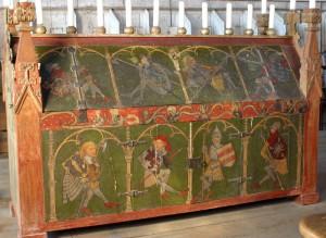 Sarkophag aus der Mitte des 15. Jahrhunderts aus dem Kloster Wienhausen bei Hannover (Mitte 15. Jh.)