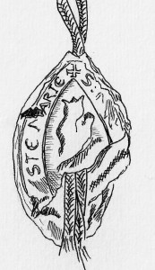 Drawing of the seal of Santa Maria da Feira (1284). (© Marta Santos)