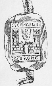 Drawing of the seal of Santarém  (1255). (© Marta Santos)
