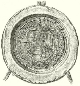Seal of Anna of Foix. (Source: Wikimedia)