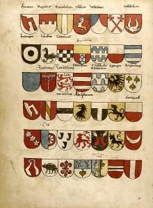 Je rangniedriger die Wappenträger, desto kleiner wird das Wappen abgebildet.