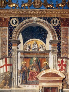 Domenico Ghirlandaio, St. Zenobius, Florence, Palazzo Vecchio, Sala dei Gigli (1482-1484)