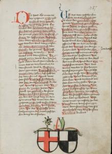 Bischofswappen in Dachers Chronik (St. Gallen, Stiftsbibliothek, fol. 141r)