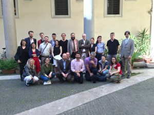Group photo of participants of the workshop 'Heraldry in the medieval city'