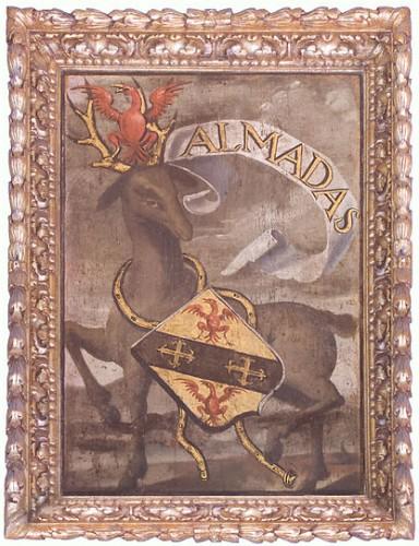 Wappen der Familie Almadas in der Sala dos brasões  im königlichen Palast in Sintra (via WikiCommons)