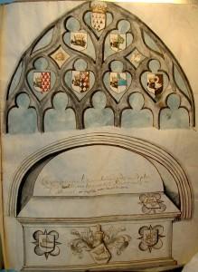 Décor héraldique aux armes de la famille L'Honoré (début du XVIIe siècle)