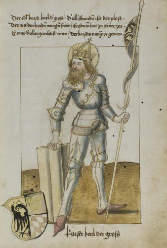 Charlemagne. Dresden, SLUB, Mscr. Dresd. P. 47, f.22r