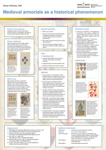 Elmar Hofman, Medieval armorials as a historical phenomenon, Poster Historikertag 2016